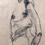 croquis, sketch, dessin, drawing, kraft paper, colorful, couleur, abstract, abstrait, impressionisme, fusain, pastel, modèle vivant, live model, nude posing, pose nue, art contemporain, nudes, nue, portrait, artwork,
