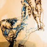 croquis, sketch, dessin, drawing, kraft paper, colorful, couleur, abstract, abstrait, impressionisme, fusain, pastel, modèle vivant, live model, nude posing, pose nue, art contemporain, nudes, nue, portrait, artwork,